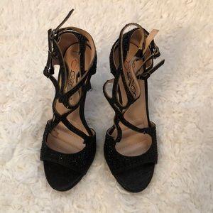 Black Latin/ballroom heels